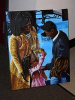 Obama Family For Barbara Taylor by CRWardenArt