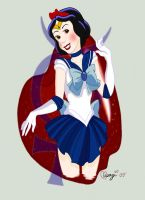 Snow White as Sailor Mercury by luvusagi
