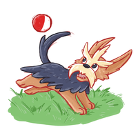 Favourite Pokemon - Normal Type - Herdier by Eltharion