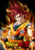Super Saiyan God by patriciox