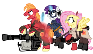 My Little Team Fortress 2 Sneak Peak by InkRose98