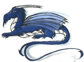 Clawdette (Blue and Silver Dragon) by AthenaMoore