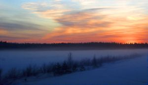 Sunset in Lappland by V1N3