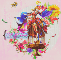 Colorful Bird by FlowEditions