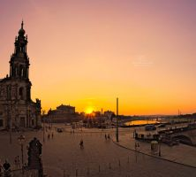 Dresden at dusk II by Lykorias
