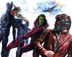 Guardians of the Galaxy by RobD4E