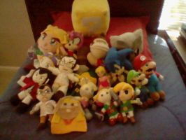 All my plushes ^_^ by elfofcourage