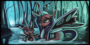 Motherly chrysalis II by Auroriia