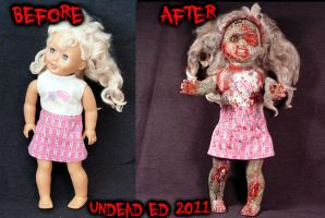 Rot Tot Chloe zombie doll comp by Undead-Art