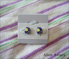 Animal Crossing Fossil Earrings by alienaviary