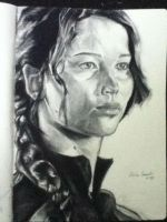 Katniss Everdeen in the training center by Ceciliaoman