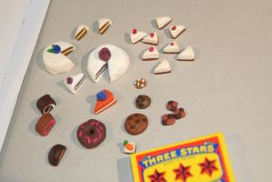 Fimo clay food miniatures by MoritzNina