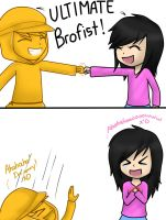 Ultimate brofist..... by HannaH-Joy64