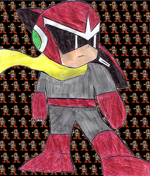 Protoman Sprite Enlargement by RRRansom