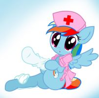 Rainbow Dash Nurse 2 by Pyruvate