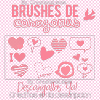 Brushes de corazones en .PNG by LylyEditions