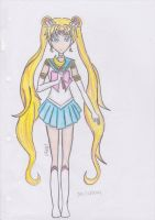 Sailor Moon: first attempt. by Sailor-Aria