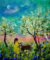 Meeting in an orchard by pledent