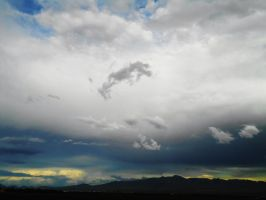 Cloud Formation and  Rocky Mts by SharPhotography