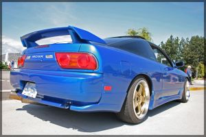 blue 180sx 2 by shiftdrift
