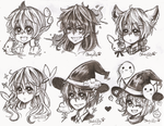 Floating Heads Commish #5 by OtakuPup