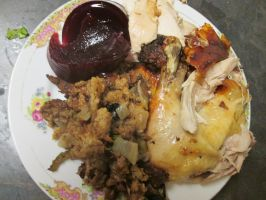 Roast Chicken and Stuffing by kukuramutta