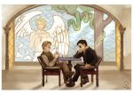 Good Omens: Chess Players by Linnpuzzle