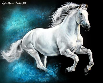 Blue Gallop by luequineart