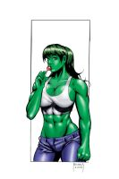 SHE-HULK'S LOLLY POP by Dwid