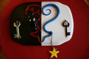 Kingdom Hearts wall plaque by souffle-etc