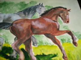 Two Horses by Eleynn