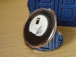 TARDIS and the Moon compact mirror by Pia-CZ