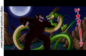 Ohzaru vs Shenron by orco05