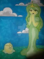 Humanized Slime Princess by Emily-Draws-Things