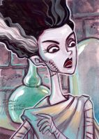 Bride of Frankenstein by danidraws