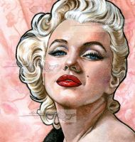 a portrait of marilyn by aramismarron