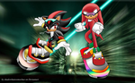 Sonic Free Riders: Knuckles by shadowhatesomochao