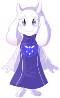 Chibi Toriel by Rannarbananar