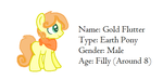 Gold Flutter my new oc by Bio-Kill