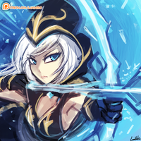 League Of Legends - Ashe by luminaura