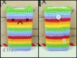 Rainbow cat iPhone pouch by yimtea