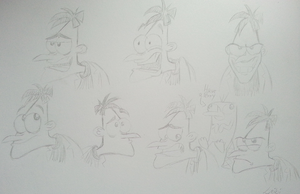 Doofenshmirtz Emotion Sketches by Leibi97