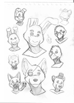 Five night at freddy's doodles by LeoOfTheDeaD