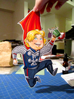 Thor Paperchild by DigitalDuckie