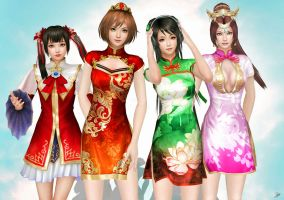 Dynasty warriors girls by YaninaJohnson