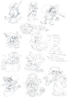 Fandom Pencil Scribbles For Christmas 1 by Kittychan2005