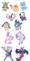 Gen 6 Stickers by hajimikimo