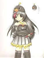 Angry Birds black bird girl by Neon-Juma