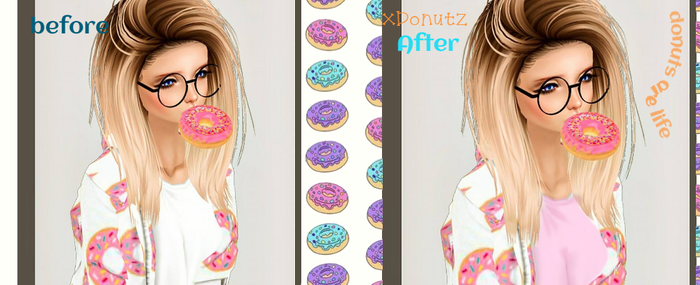 xDonuts -avi edit - before and after by DinoDots9