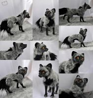 Silver fox posable art doll by LisaToms
